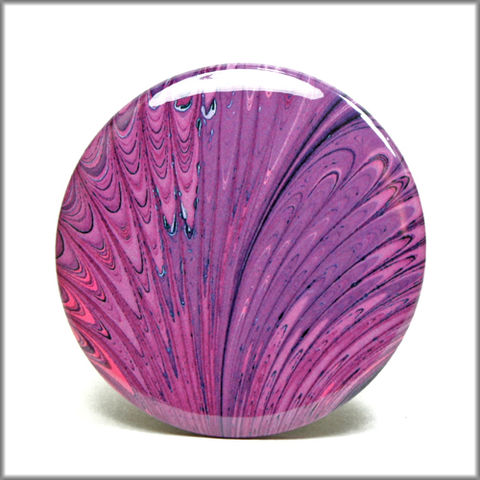marbled,paper,magnet,no.,2,marbled_paper,functional_art,kitchen_magnet,refrigerator_magnet,purple feather