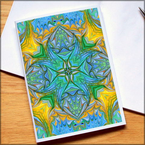marbled,kaleidoscope,notebook,no.,4,small notebook,mini journal,marbled paper,eco friendly