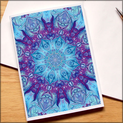 marbled,kaleidoscope,notebook,no.,8,small notebook,mini journal,marbled paper,eco friendly