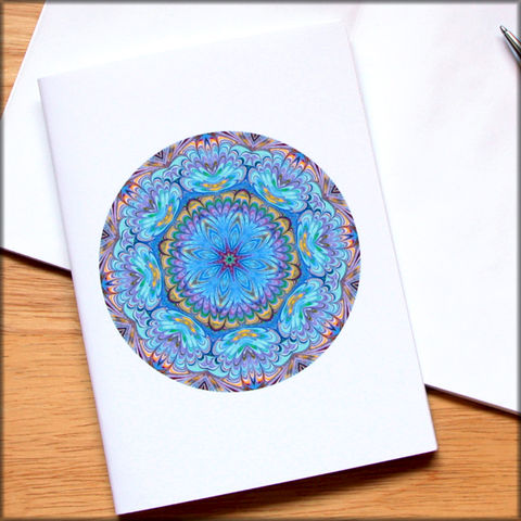 marbled,mandala,notebook,no.,2,small notebook,mini journal,marbled paper,eco friendly