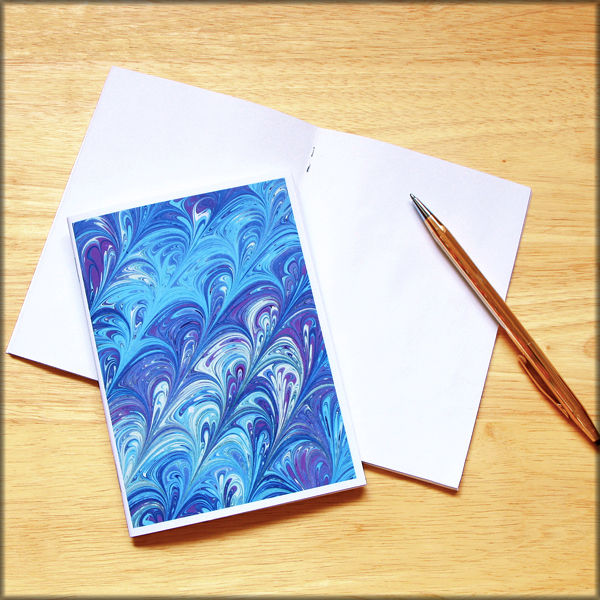 marbled paper notebook no. 22 - product images  of