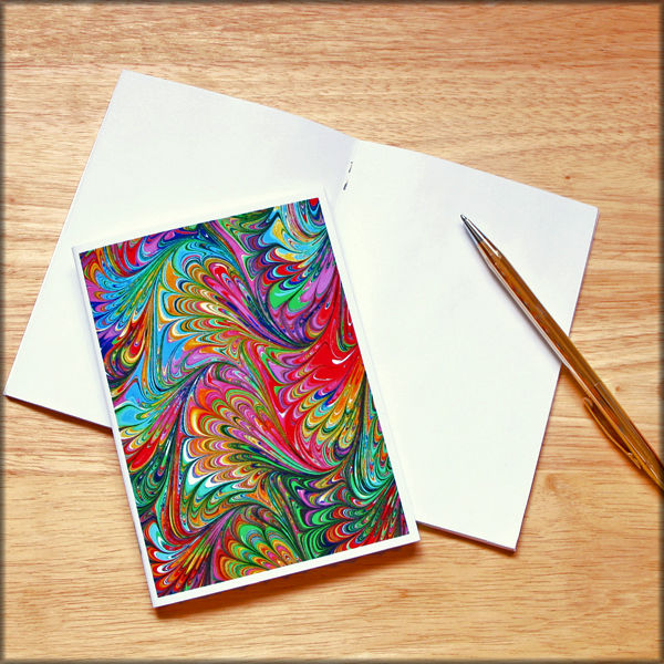 marbled paper notebook no. 13 - product images  of