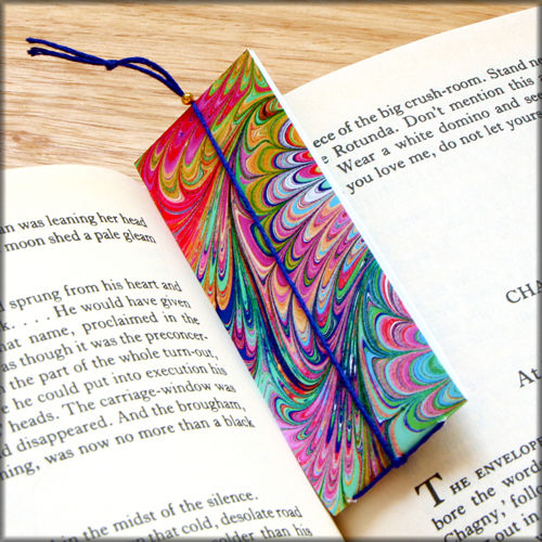 marbled paper bookmark book - series 1 - product images  of