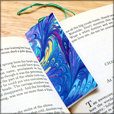 marbled,paper,bookmark,book,-,series,3,Bookmark,marbled_paper,recycled,miniature_notebook,blank_book