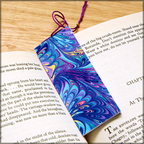 marbled paper bookmark book - series 3 - product images  of