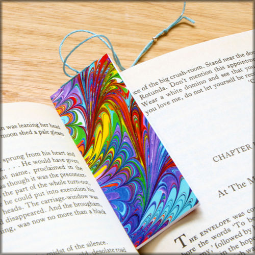 marbled paper bookmark book - series 5 - product images  of