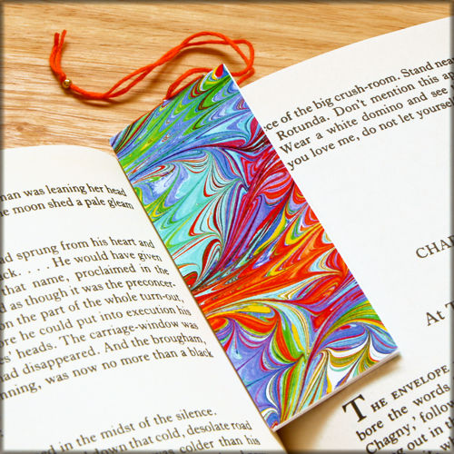 marbled paper bookmark book - series 9 - product images  of