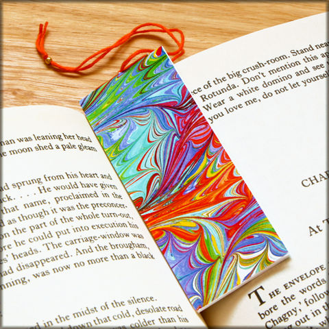 marbled,paper,bookmark,book,-,series,9,Bookmark,marbled_paper,recycled,miniature_notebook,blank_book