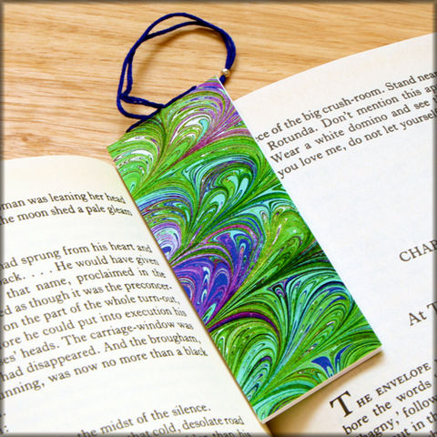 marbled,paper,bookmark,book,-,series,8,Bookmark,marbled_paper,recycled,miniature_notebook,blank_book