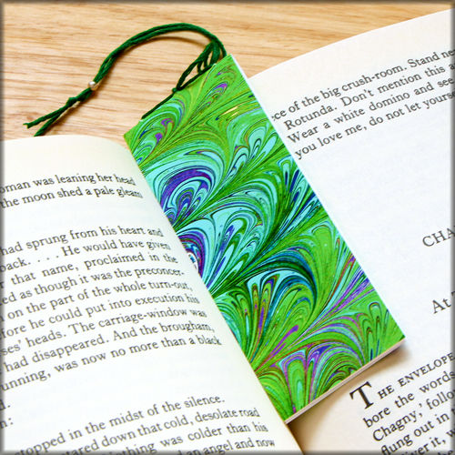 marbled paper bookmark book - series 8 - product images  of