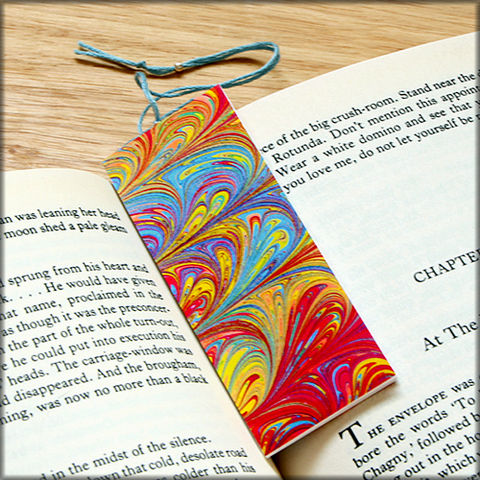 marbled,paper,bookmark,book,-,series,7,Bookmark,marbled_paper,recycled,miniature_notebook,blank_book