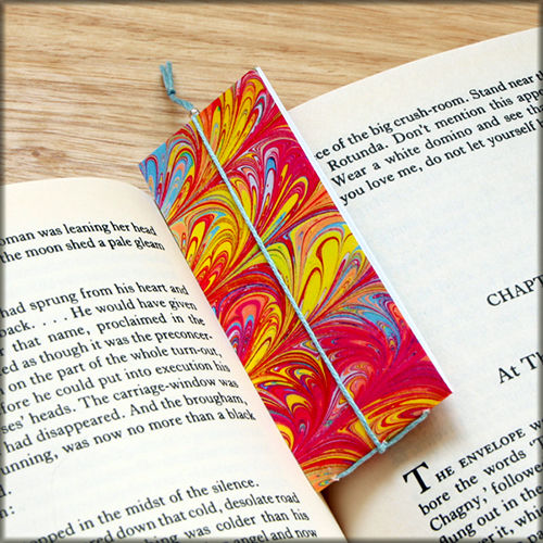 marbled paper bookmark book - series 7 - product images  of