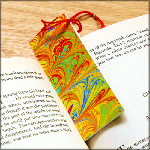 marbled paper bookmark book - series 6 - product images  of