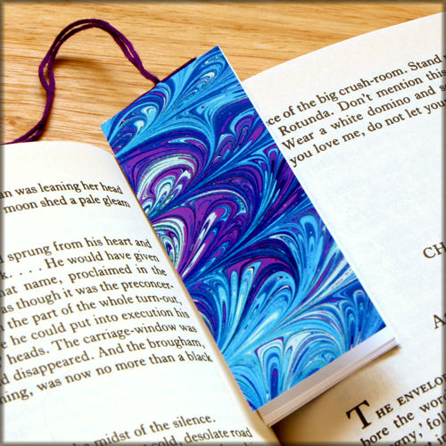 marbled paper bookmark book - series 10 - product images  of