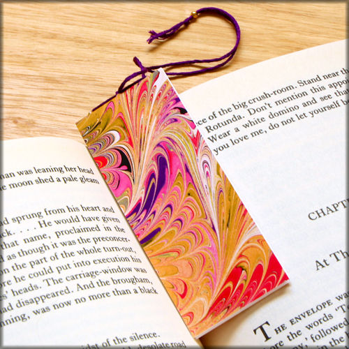 marbled paper bookmark book - series 13 - product images  of