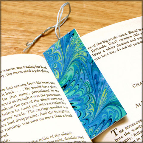 marbled,paper,bookmark,book,-,series,15,Bookmark,marbled_paper,recycled,miniature_notebook,blank_book