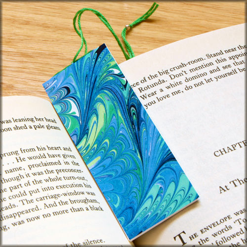 marbled paper bookmark book - series 15 - product images  of