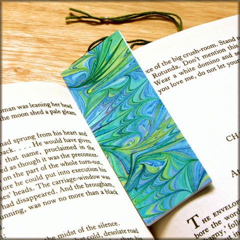 marbled,paper,bookmark,book,-,series,17,Bookmark,marbled_paper,recycled,miniature_notebook,blank_book