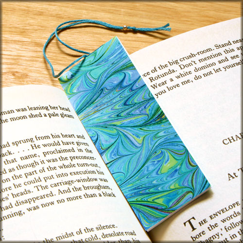 marbled paper bookmark book - series 17 - product images  of