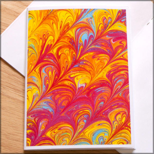marbled paper notebook no. 15 - product images  of