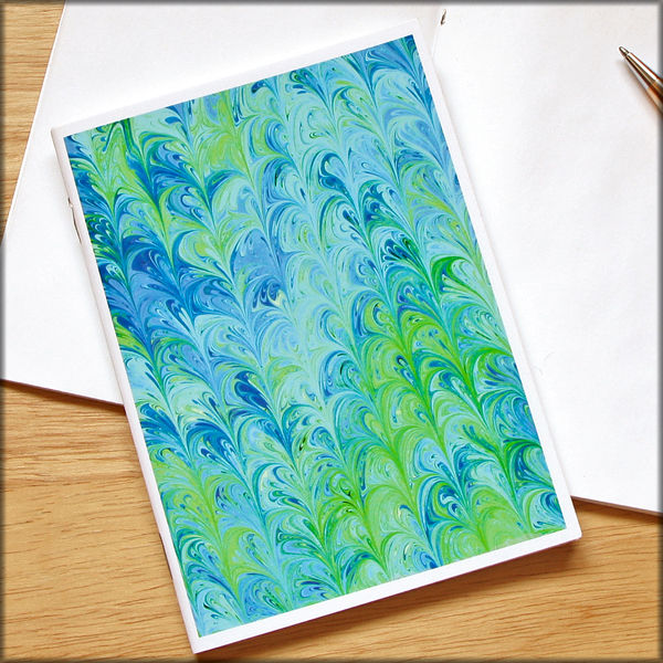 marbled paper notebook no. 7 - product images  of