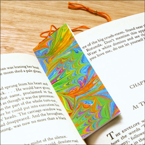 marbled,paper,bookmark,book,-,series,4,Bookmark,marbled_paper,recycled,miniature_notebook,blank_book