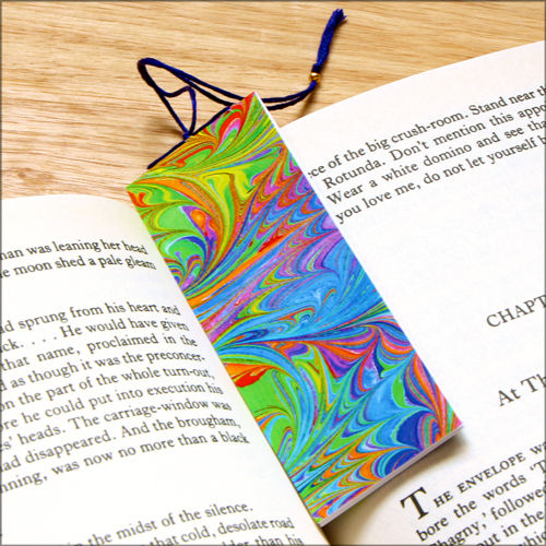 marbled paper bookmark book - series 4 - product images  of
