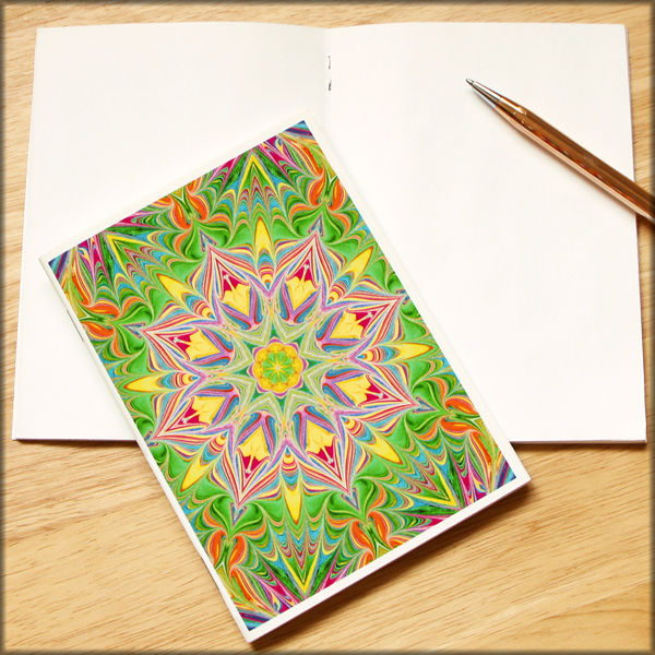 marbled kaleidoscope notebook no. 11 - product images  of