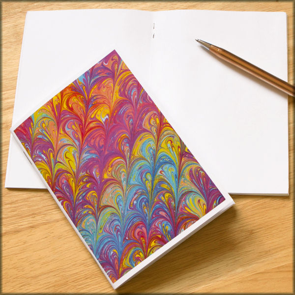 marbled paper notebook no. 4 - product images  of