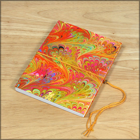 marbled,paper,coptic,stitch,soft,cover,journal,no.,2,blank book, journal, diary, sketchbook, hand bound, coptic stitch journal, handmade, travel journal, bright colored journal