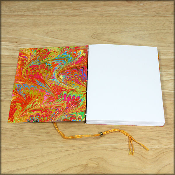 marbled paper coptic stitch soft cover journal no. 2 - product images  of