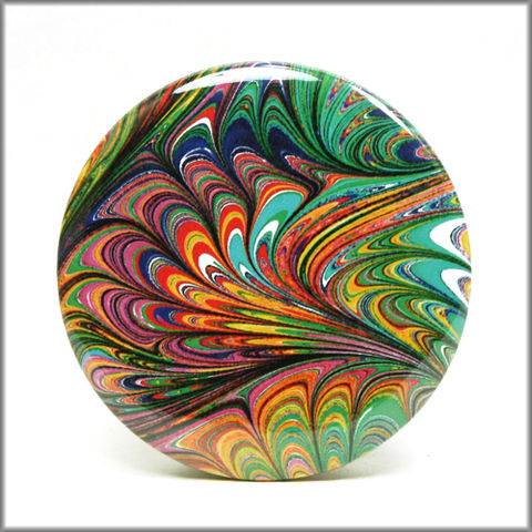 marbled,paper,magnet,no.,15,marbled_paper,functional_art,kitchen_magnet,refrigerator_magnet, round magnet, large magnet,rainbow