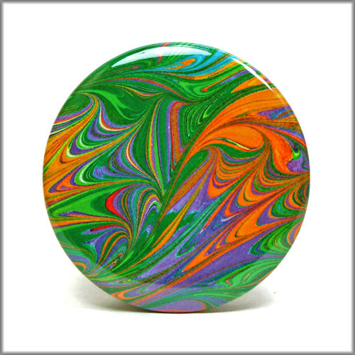 marbled paper pinback button badge no. 3 - product images  of
