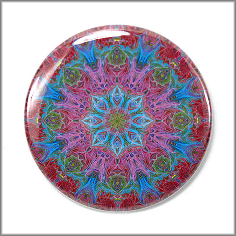 mandala,pinback,button,badge,no.,2,pin,pinback_button,marbled_paper,functional_art,mandala jewelry, purple and blue pin, mandala pin button, rainbow button, fashion accessory