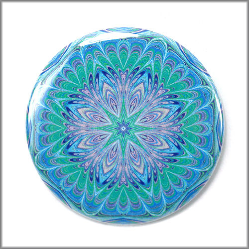 mandala pinback button badge no. 4 - product images  of