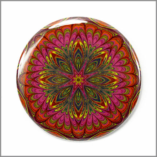 mandala pinback button badge no. 5 - product images  of