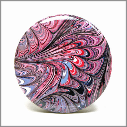 marbled paper pinback button badge no. 7 - product images  of