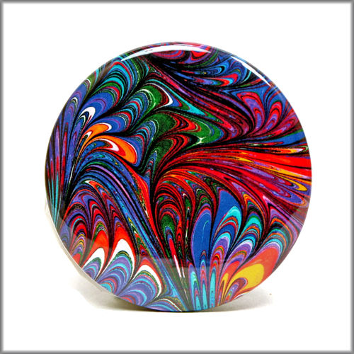 marbled paper pinback button badge no. 10 - product images  of