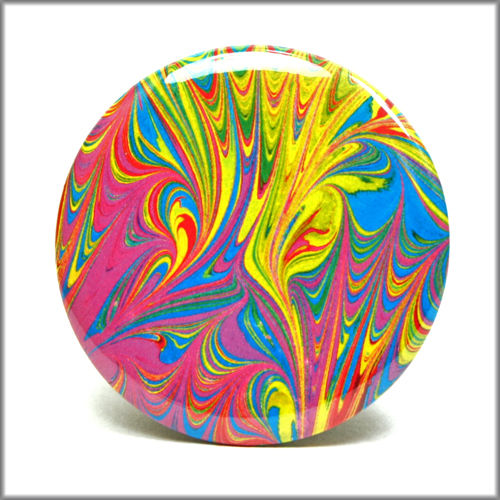 marbled paper pinback button badge no. 11 - product images  of
