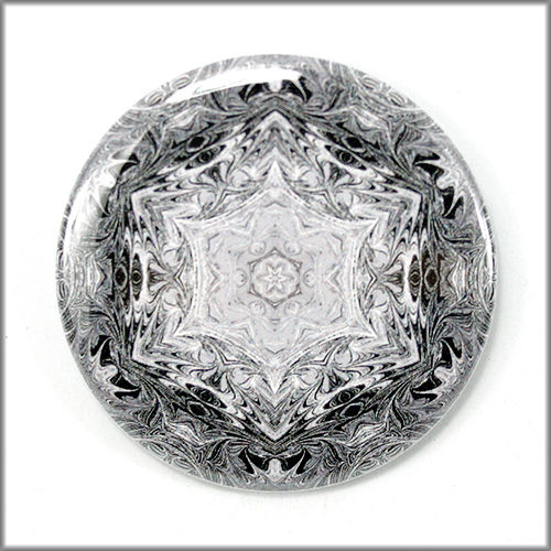 mandala pinback button badge no. 6 - product images  of