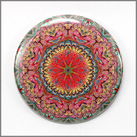mandala,pinback,button,badge,no.,7,pin,pinback_button,marbled_paper,functional_art,mandala jewelry, flower garden pin, mandala pin button, floral button, fashion accessory, pastel mandala