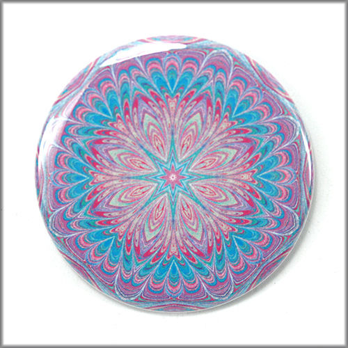 mandala pinback button badge no. 8 - product images  of