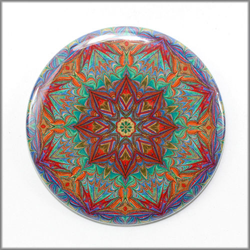 mandala pinback button badge no. 9 - product images  of