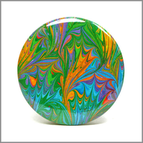 marbled paper pinback button badge no. 14 - product images  of
