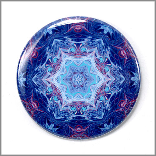 mandala pinback button badge no. 10 - product images  of