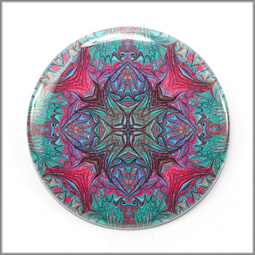 mandala pinback button badge no. 12 - product images  of