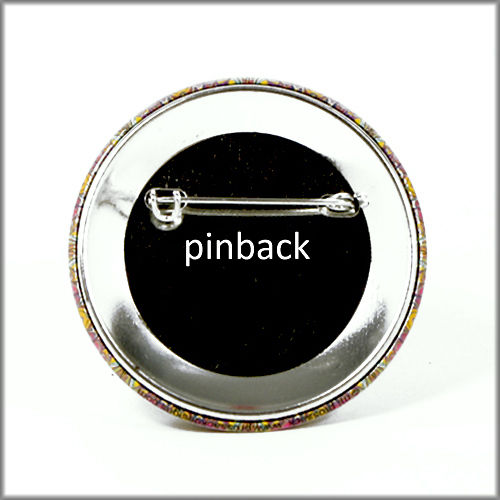 marbled paper pinback button badge no. 1 - product images  of