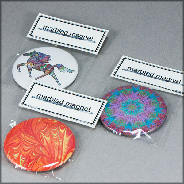 marbled paper magnet no. 5 - product images  of