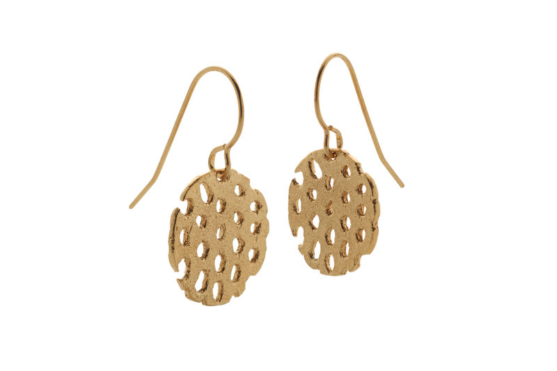 Gold Remnant Drop Earrings - product images  of