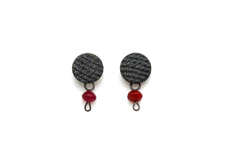 Crochet Pink Jade Drop Earrings - product image